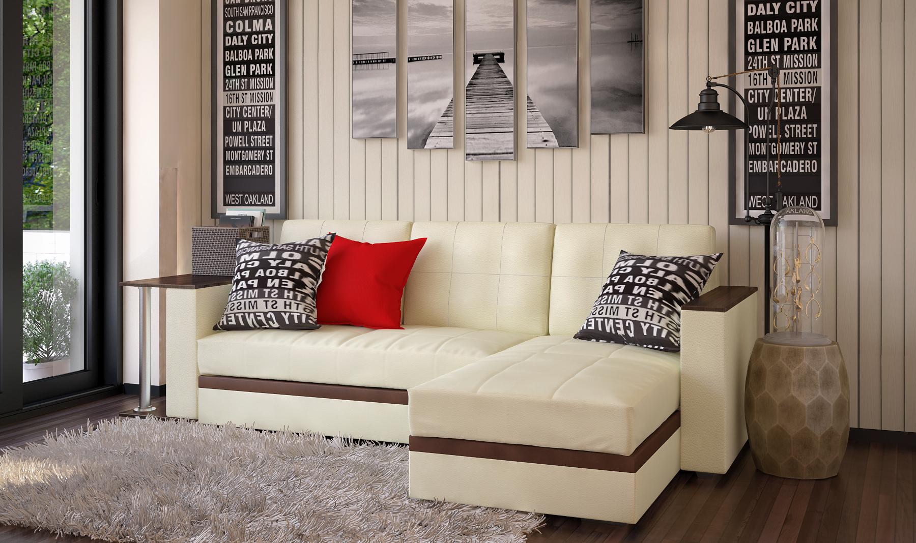Угловой диван с с баром