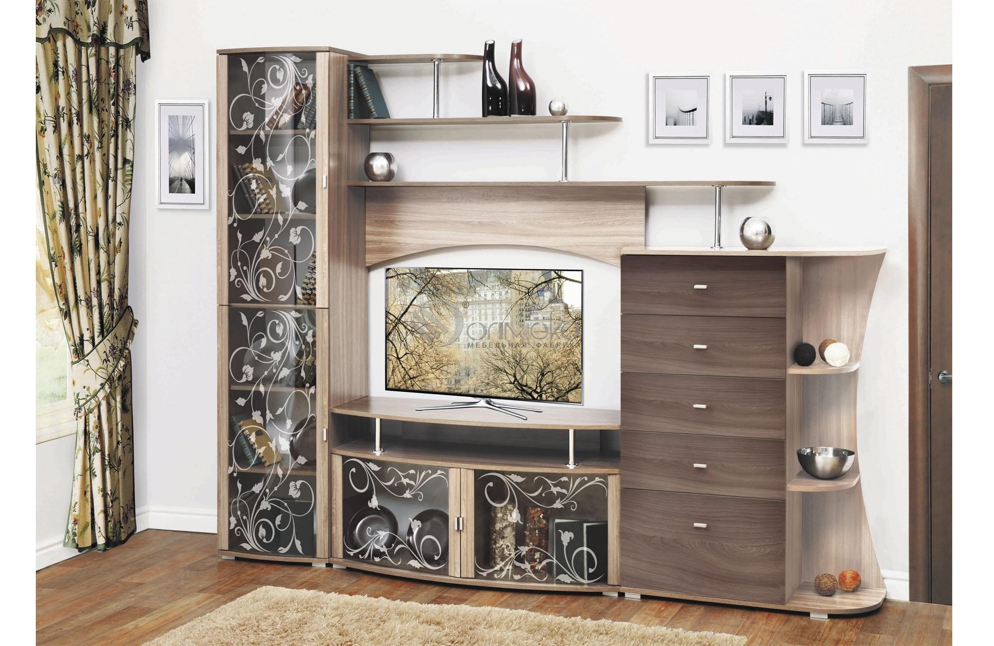 Стенка олимп м15 - мебель для гостиной, диваны, стенки, журн.