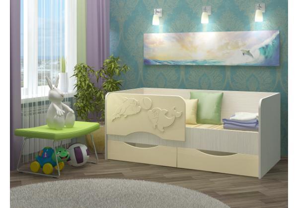 Детская кровать Дельфин-2 МДФ 1,6 м. – фото 1